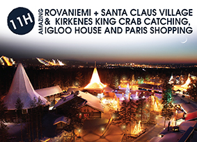 11H ROVANIEMI WITH SANTA CLAUS VILLAGE