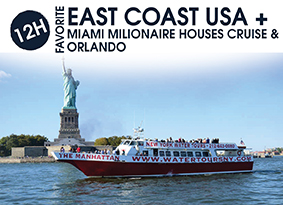 12H EAST COAST USA WITH MIAMI MILIONAIRE HOUSES CRUISE