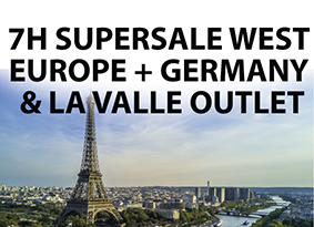 SUPERSALE WEST EUROPE + GERMANY & LA VALLE OUTLET