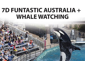 FUNTASTIC AUSTRALIA + WHALE WATCHING (INC DINNER AT HARD ROCK CAFE AND HARBOUR CRUISE)